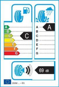 Energetický štítok víťaza testu letných pneumatík 205-55 R16