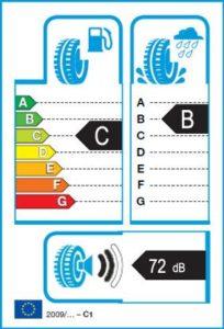 Energetický štítok víťaza testu zimných pneumatík 205-55 R16 - 2018/2019